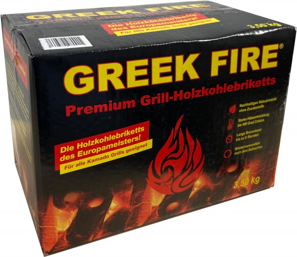 Greek Fire Holzkohlebriketts 3,5KG